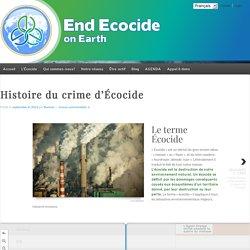 Histoire du crime d'Écocide