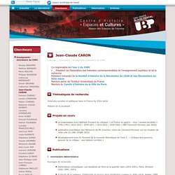 Centre d'Histoire Espaces et Cultures - CHEC
