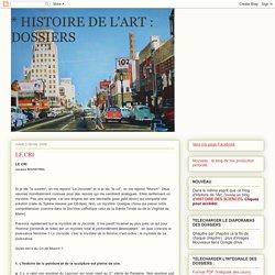 * HISTOIRE DE L'ART : DOSSIERS: LE CRI