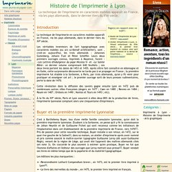 Histoire de l'imprimerie à Lyon