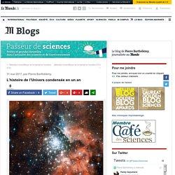 L'histoire de l'Univers condensée en un an