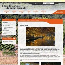 Histoire - Découvrir - Office de Tourisme du Canal Du Midi