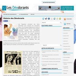 Histoire des Déodorants