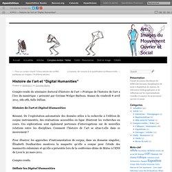 """Histoire de l'art et """"Digital Humanities"""""""
