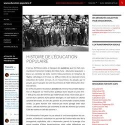 Histoire de l'éducation populaire