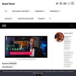 Jeu video - histoire - education - Romain Vincent