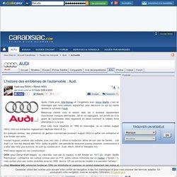 L'histoire des emblèmes de l'automobile : Audi.