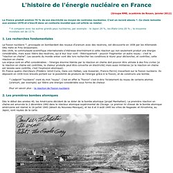 histoire de l'énergie nucléaire en France