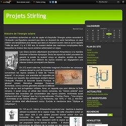 Histoire de l'énergie solaire - Projet Stirling