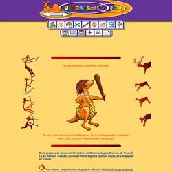 histoire pour les enfants : la préhistoire
