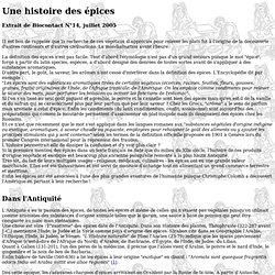 Histoire des épices