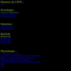 Histoire de l'EPS