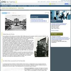 histoire des établissements - hôtel-Dieu