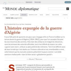 L'histoire expurgée de la guerre d'Algérie, par Maurice T. Maschino (Le Monde diplomatique, février 2001)