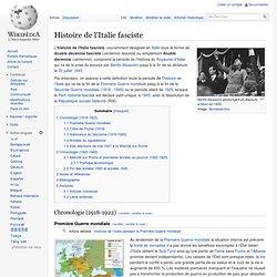 Histoire de l'Italie fasciste