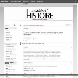 La place de l'histoire des femmes dans l'enseignement de l'histoire