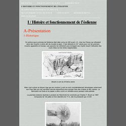I / Histoire et fonctionnement de l'éolienne