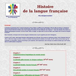 Histoire du français