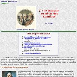 Histoire du français: Le siècle des Lumières