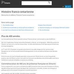 Histoire franco-ontarienne