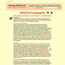 Histoire de la géographie.