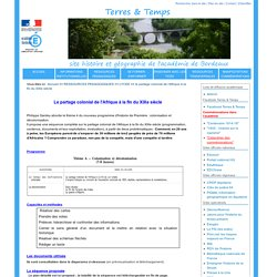Cours sur la colonisation (Site d'Histoire et Géographie de l'Académie de Bordeaux)