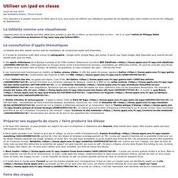 [Site Histoire Géographie Ed Civique ACADEMIE DE BESANCON]Utiliser un ipad en classe