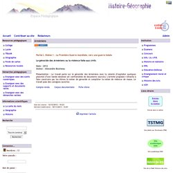 Histoire Géographie - Grenoble - Arméniens
