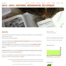 2012 – 2013 : Histoire, Géographie, Éd.Civique