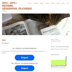 2012 - 2013 : Histoire, Géographie, Éd.Civique