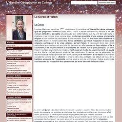 Le Coran et l'Islam - L'Histoire-Géographie au Collège