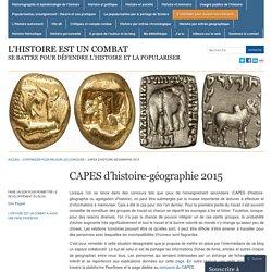 CAPES d'histoire-géographie 2015 « l'histoire est un combat