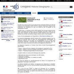 Histoire-Géographie-Lyon - Ecoville et aménager la ville durable