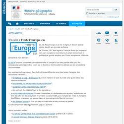 Un site : Toutel'europe.eu-Histoire-géographie-Éduscol
