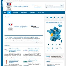 Histoire-Géographie : Cours, Programme, Logiciel, Exercices et Fiches pédagogiques - Éducnet
