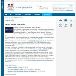 2020, Année De Gaulle-Histoire-géographie-Éduscol