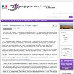 Histoire Géographie lycée - Edugéo : les espaces ruraux au sud d'Avignon