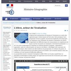 Histoire-géographie - L'élève, acteur de l'évaluation