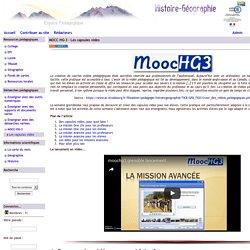 Histoire Géographie - Grenoble - MOCC-HG-3 - Les capsules vidéo