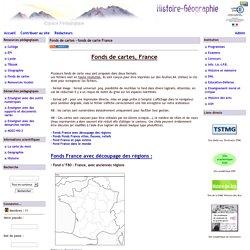 Histoire Géographie - Grenoble - Fonds de cartes - fonds de carte France