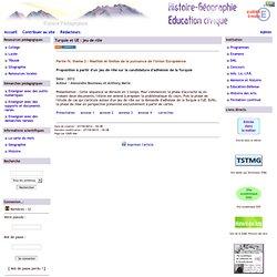 Histoire Géographie - Grenoble - Turquie et UE : jeu de rôle
