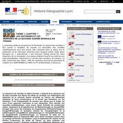Histoire-Géographie-Lyon - Thème 1, Chapitre 1 : Les historiens et les mémoires de la Seconde Guerre mondiale en France.