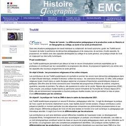 TraAM - Histoire Géographie Limoges