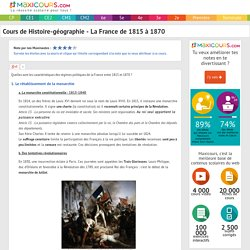 La France de 1815 à 1870