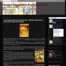 Les Français dans la Grande Guerre : Affiches, Monuments aux morts et place des enfants