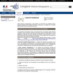 L'IDENTITE NUMERIQUE - Histoire-Géographie-Education civique