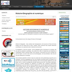 Histoire-Géographie et numérique