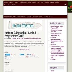 Histoire Géographie Programmes 2016