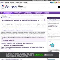 Histoire-géographie - Ressources pour la classe de première des séries ES et L