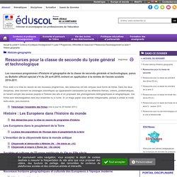 Histoire-géographie-éducation civique-ECJS - Ressources pour la classe de seconde